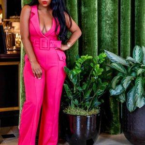 Nichole Lynel Pink Jumpsuit S